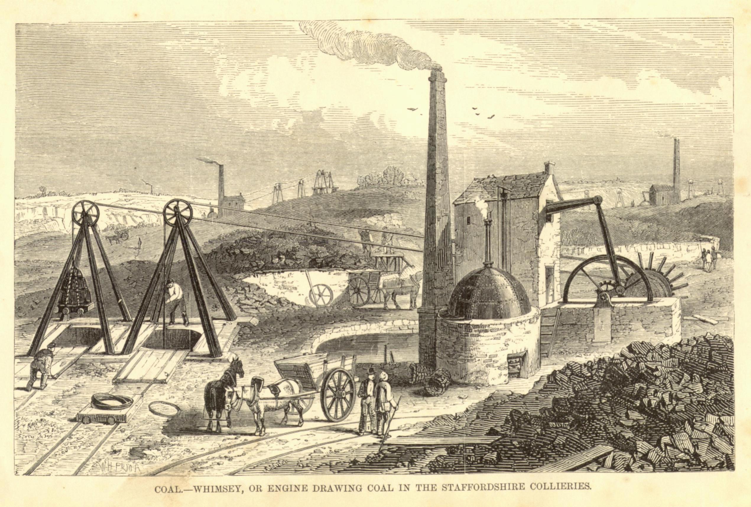 Coal Mining Drawings or Engine Drawing Coal in